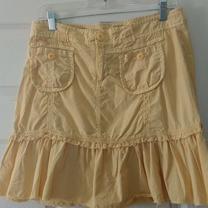 Lemon chiffon yellow Anthropology skirt